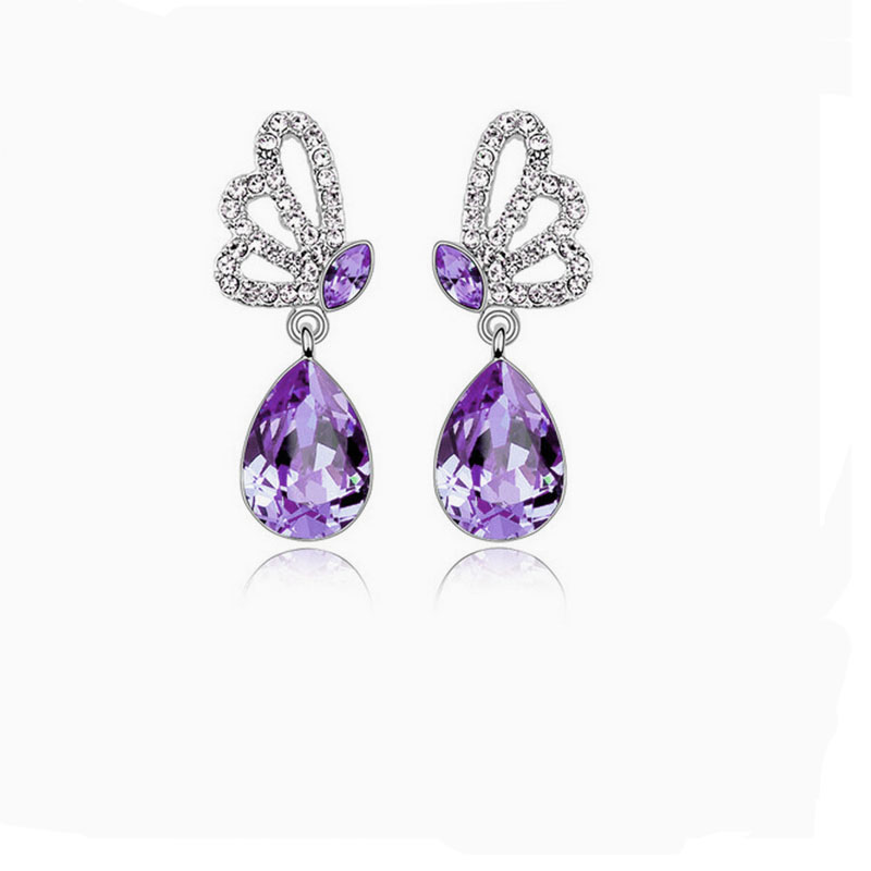 Elegant Alloy With Crystal Women's Earrings 3