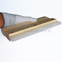 Professional Window Tint Tool Rubber Squeegee With Wood Handle