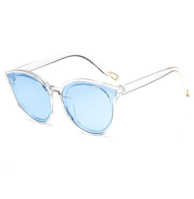 38dd247a6b YAYA Moda Marco Grande gafas de Sol de Las Mujeres Transparentes de La Jalea  Gafas de