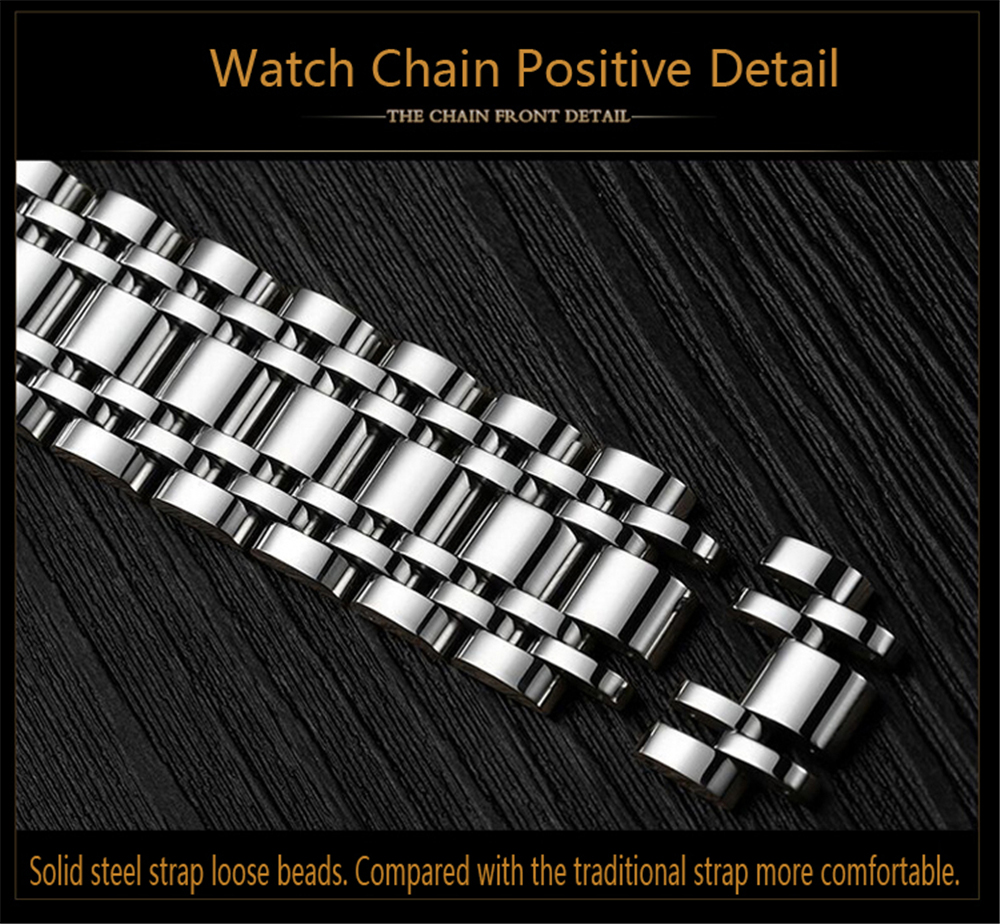 2017 Kinyued Skeleton Tourbillon Reloj mecánico Correa de acero - Relojes para hombres - foto 5