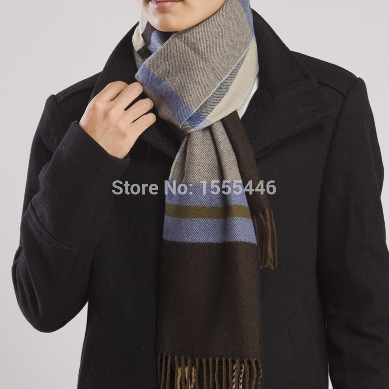 Free Shipping Fashion Winter Mens Cashmere Scarf B...