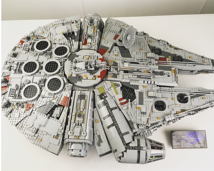 Millennium Falcon Lepin 8445pcs Compatible 75192 Star wars Series Ultimate Collectors Model Building Bricks Toys 19