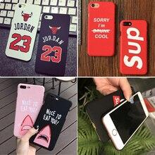 Fashion Cool Brand Designer Sup Phone Case Cover for Coque iPhone 8 7 6s 6 Plus 6Plus 7Plus iPhon Capinha for iPhone Jordan Case