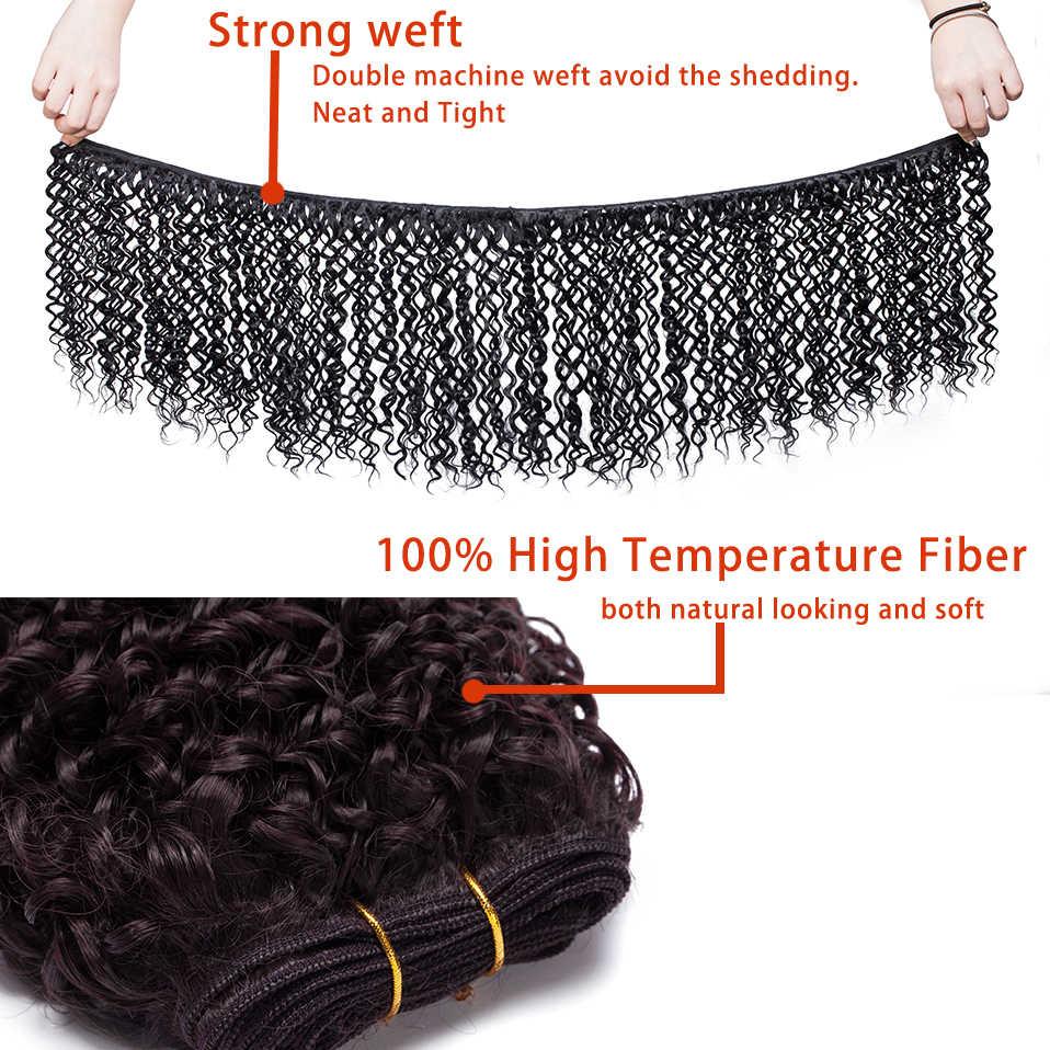 S-noilite 8 дюймов 20 см глубокие волнистые волосы синтетические волосы на Трессах для наращивания 120 г круги на воде оплетка волос новый бренд