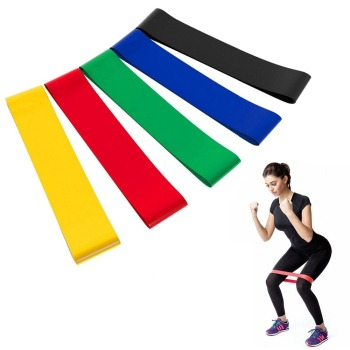 Resistance Bands Elastic Bands for Fitness Loop Yoga Pilates Home GYM Exercise Equipments Workout Training Pull Up Rubber Band image