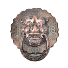Antique Lion Door handles Knocker head wood door and knobs for home vintage bronze Chinese style