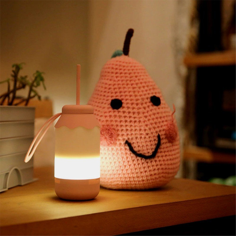 LED Feeding Bottle Night Light Stretch Switch Baby Lactation Nightlights rechargeable milk nursing bottle bedside lamp IY303155 multifunctional portable babies intelligent milk bottle feeding temperature indication low power warning timed reminder