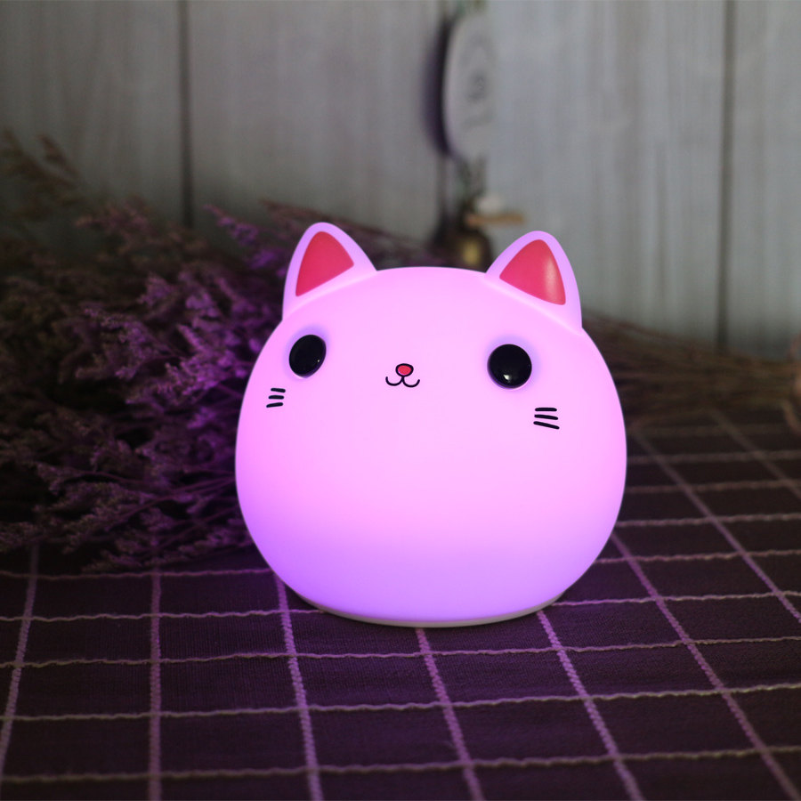 Luzes da Noite toque gato levou noite luz Modelo Número : Animal Cat Night Light