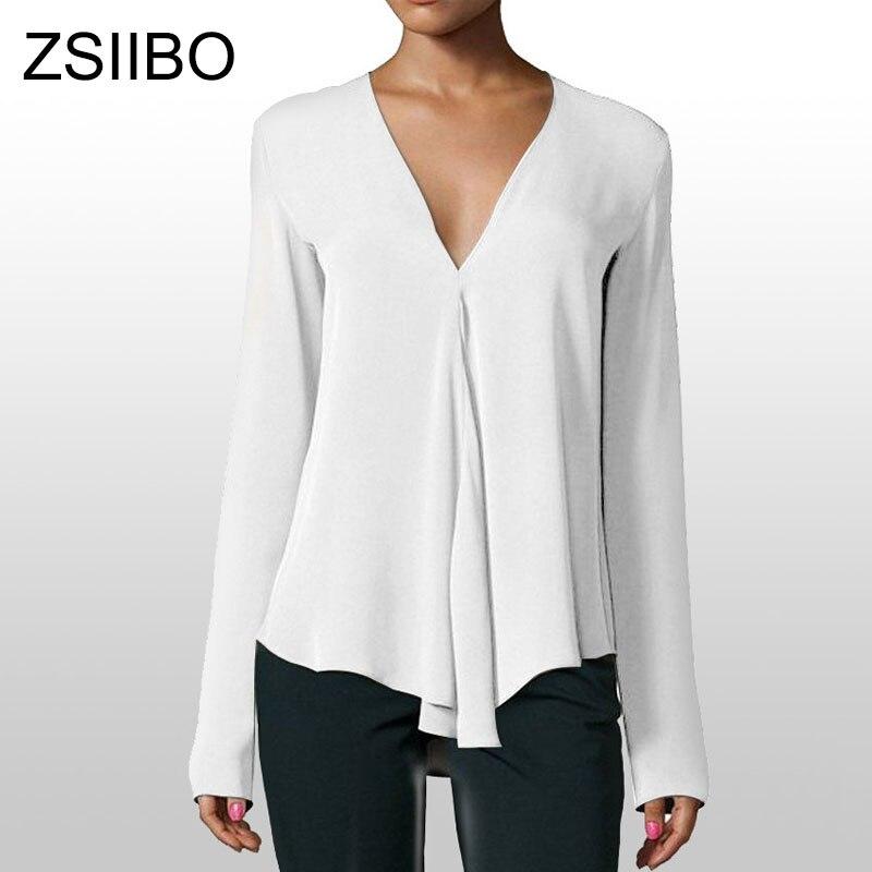 Korean Style Blouses 2019 Selling Fashion Long Sleeve Shirts V Neck Loose Women Tops Plus Size Female Chiffon Shirt Clothing