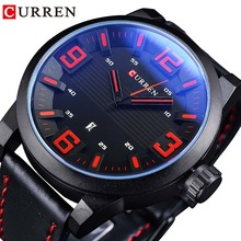 CURREN Fashion Red 3D Dial Blue Glass Military Mens Sport Wrist Watches Top Brand Luxury Quartz Calendar Montre Homme Male Clock curren top brand luxury mens watches steel date quartz watch men casual sport clock military army montre homme male wristwatch