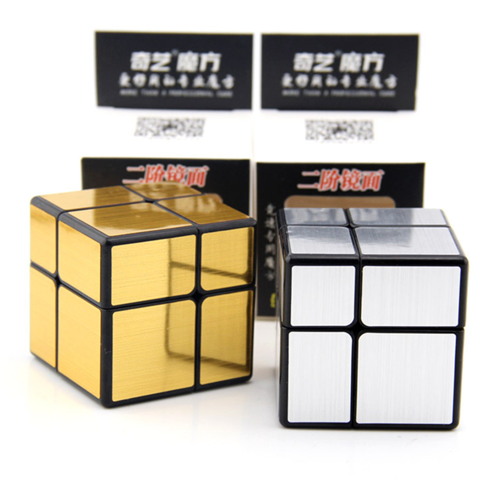 And Children Women Reliable Qiyi Mofangge Mirror Cube 2x2 Unequal Magic Cube Speed Puzzle Educational Toys Gift For Children Silver/golden Version Suitable For Men