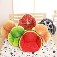 3D Fruit Printed Sofa Seat Cushion Pillows, Home Decorative Waist Cushion For Sofa Chair, Back Seat Cushion Almofadas Cojines