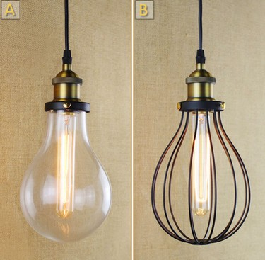 American Loft Industrial Vintage LED Pendant Light Fixtures For Living Dining Room Bar Hanging Lamp Iron Glass Retro Droplight