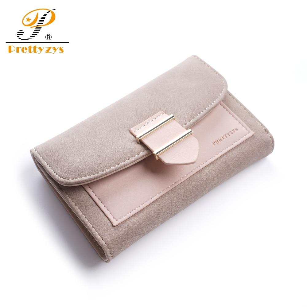 Women Wallet Female Middle Scrub PursesLeather Portefeuille Femme Carteira Feminina Patchwork Card Holder Short Cartera Mujer