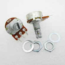 5PCS LOT WH148 B20K Linear Potentiometer 15mm Shaft With Nuts And Washers Hot 3Pin High Quality