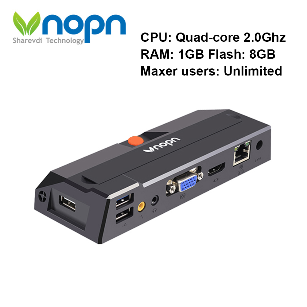 R1 Linux3.4 Client mince Quad Core 2 GHz RDP8.0 PC Station informatique Cloud Terminal ordinateur virtuel zéro Client 1G RAM 8G Flash