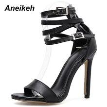 New Fashionable Sexy Design Women Gladiator Style Buckle Thin High Heels
