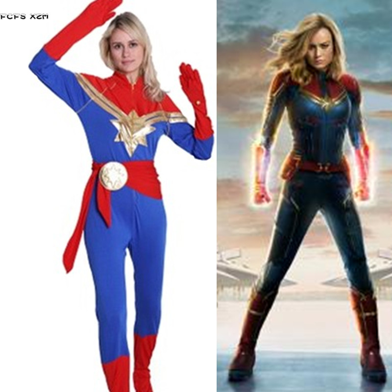 S Xxl Female Halloween Captain Marvel Costumes For Women Cosplays Carnival Purim Parade Masquerade Bar Party Dress Movie Tv Costumes Aliexpress Although carol danvers is seen wearing what. s xxl female halloween captain marvel costumes for women cosplays carnival purim parade masquerade bar party dress