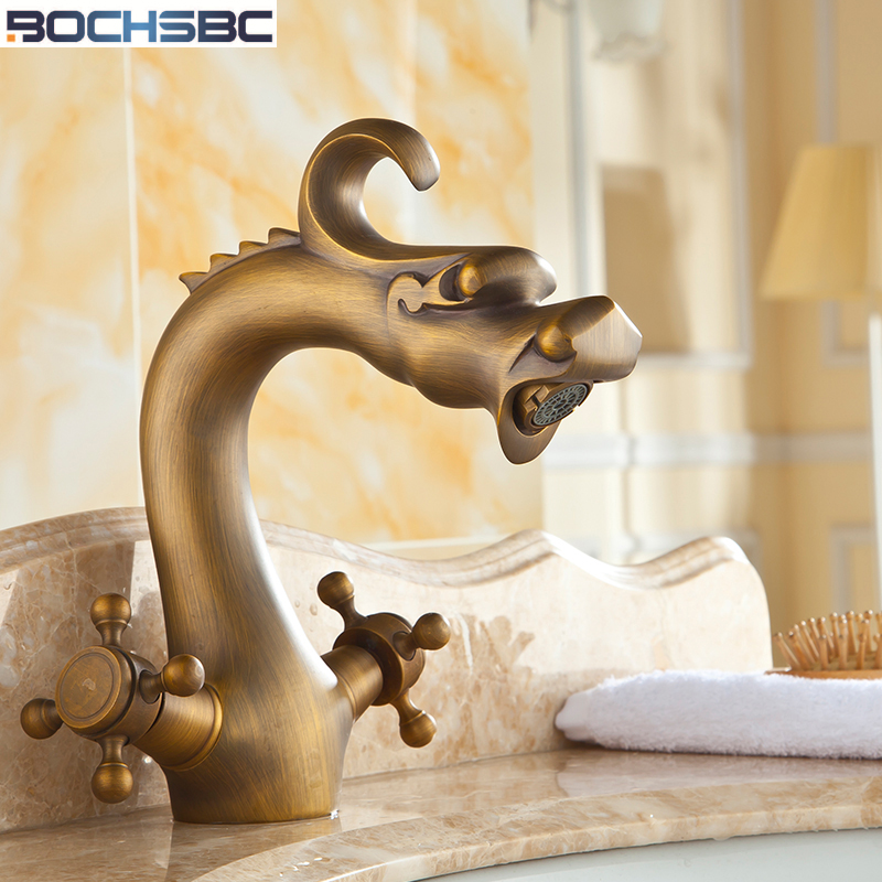 BOCHSBC Kitchen Faucet 360 Swivel Retro Mixer Tap Copper Hot and Cold Basin Tap Fashion Antique Robinet salle de bain 5pcs cd74hc238e dip16 cd74hc238 dip 74hc238 new and original ic free shipping
