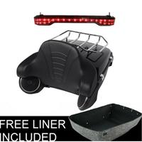 Motorcycle King Trunk + LED Tail Light Speakers For Harley Tour Pak Road King Street Glide Road Glide Electra Glide 2014 2019
