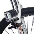 Adaptador de montaje de gopro bicicleta manillar de liberación rápida abrazadera plástica estilo correa de montaje + trípode para gopro hero 4/3 +/3/2