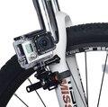 Gopro bicicleta handle bar-adaptador de montagem de liberação rápida estilo zip-tie strap mount + tripé para gopro hero 4/3 +/3/2