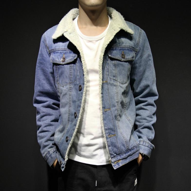 296c4c52010 Mogipussy Men winter lambs wool denim jacket denim jacket plus thick velvet  Korean men-in Jackets from Men's Clothing on Aliexpress.com