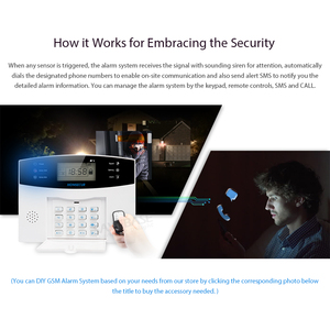 Image 3 - HOMSECUR DIY GSM Alarm System für Home Security(Alarm Panel LA01,PIR Motion Sensor, Rauch Sensor, flash Strobe Sirene etc.Optional)