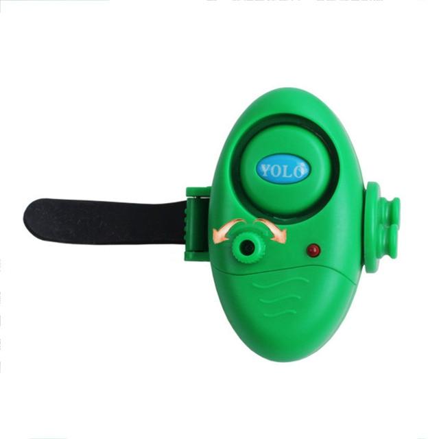Fishing Electronic LED Light Fish Bite Sound Alarm Bell Clip On Fishing Rod Black Tackle free shipping