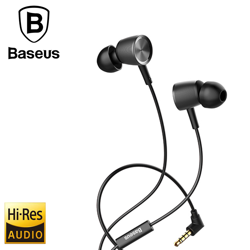 Original Baseus H07 In-Ear Earphone HiFi Stereo Earphones Bass sound Headset Earbud fone de ouvido with Mic for Xiaomi Samsung vention vae t03 earphone 3 5mm in ear bass stereo earbud with remote mic for samsung mp3 player