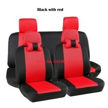 Cubierta de asiento de coche Universal Para Renault Logan Sandero 2 Plumero Fluence Megane seat covers accesorios styling negro/gris/rojo