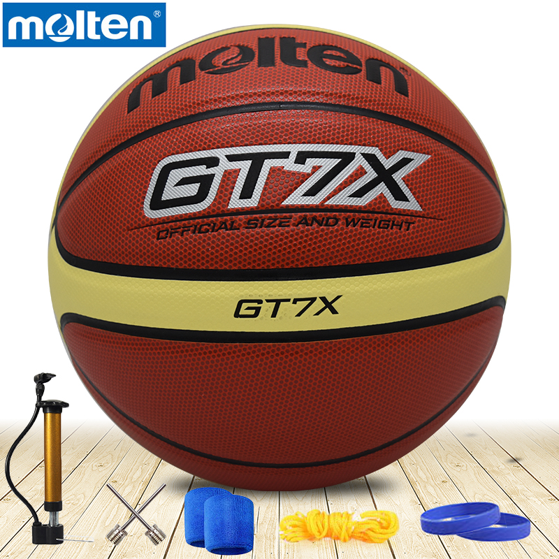 D'origine fondu de basket-ball balle gt7x gt5x NOUVELLE Marque de Haute Qualité Véritable Fondu PU Officiel Size7/size5/size6Basketball