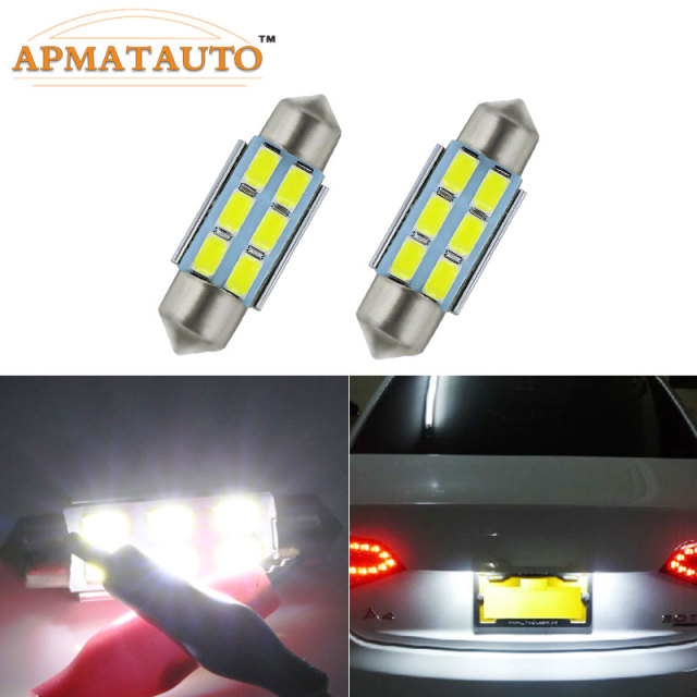 2 x 36mm No Error Number License Plate Light LED Bulb For AUDI A2 A3 8L 8P A4 B5 B6 A6 4B 4F A8 D2 TT Q3 Q5 Q7 C5 C6 C7 S2 S4