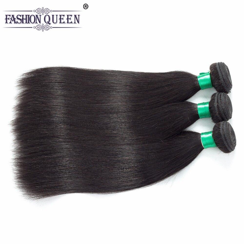 Fashion Queen Hair Malaysian Straight Human Hair Bundles 8-26 Inch Hair Weave Natural Color Non Remy Hair Free Shipping