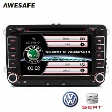 "2 din 7 ""Coche DVD GPS radio player Para VW/Skoda/Fabia Praktic/Fabia/Octavia/Yeti audio gps doble din pantalla táctil de coches stereo"