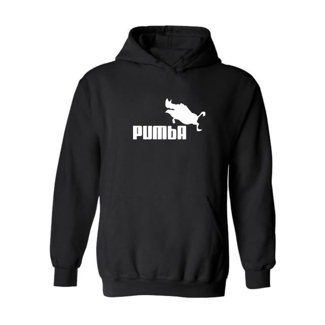 2016 Pumba Black Hooded Sweatshirt with Hoodies Men Brand in Mens Hoodies and Sweatshirts 3xl xxs