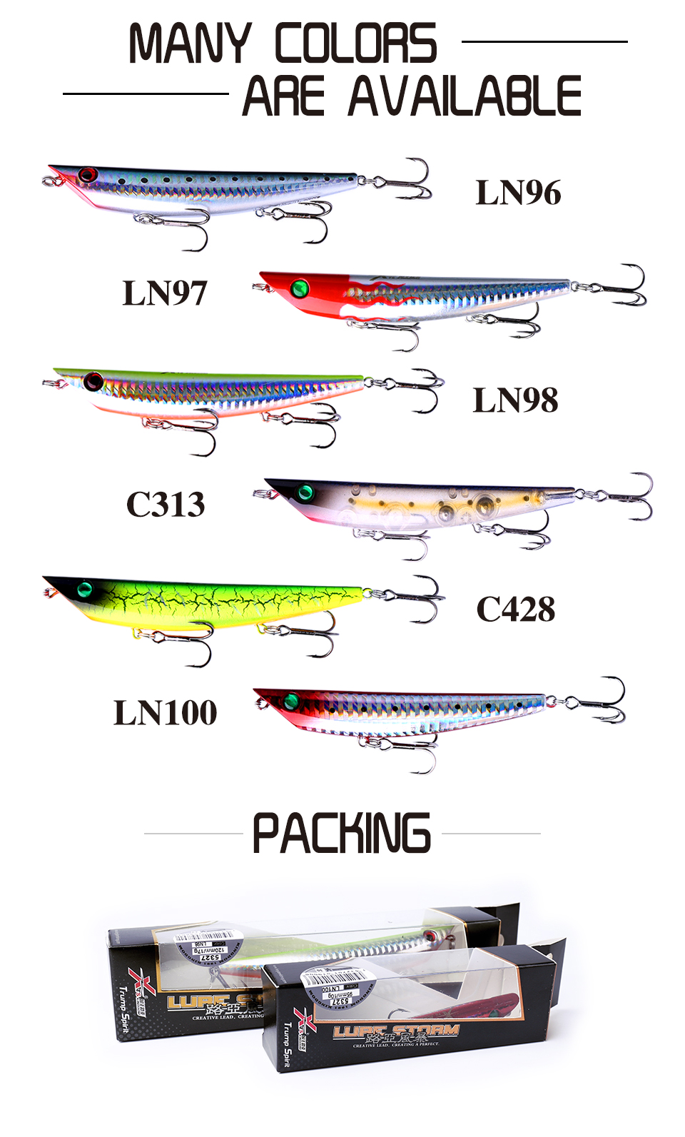 Kingdom Fishing lures Floating Pencil 95mm/10g 120mm/17g Hard baits quality professional bait fishing lure for pike and sea bass 9