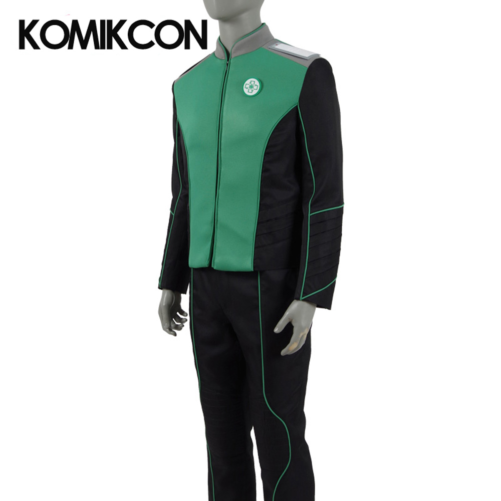 The Orville Medical Department Uniform Cosplay Starfleet Costume Duty Outfit Halloween Christmas Costume Green Suits for Men