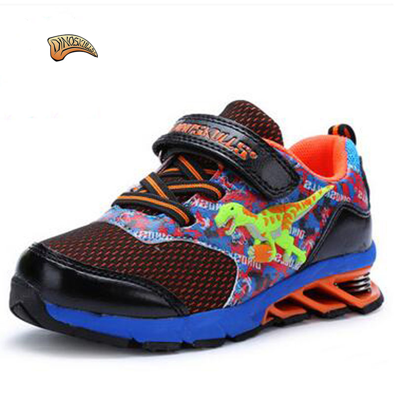 Dinoskulls 2017 Spring/Autumn Kids Sneakers Fashion Style 3D Dinosaur Baby Shoes Boys Breathable Non-slip Running Sports Shoes  children s shoes girls boys casual sports shoes anti slip breathable kids sneakers spring fashion baby tide children shoes