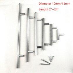 Bouton de traction de poignée de barre de l'armoire de porte balayée par cuisine d'acier inoxydable 2 ~ 24