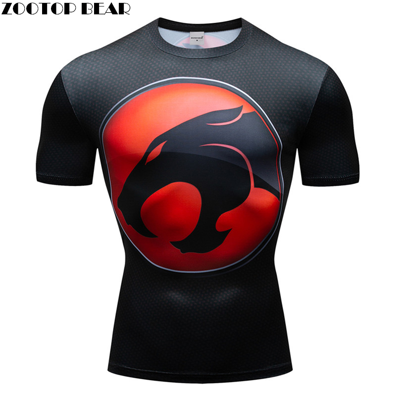 Animal 3D t shirt Men Compression Short Sleeve T-shirt Top Bodybuilding Fitness Male Tshirt Crossfit Homme Anime Tee Costume New