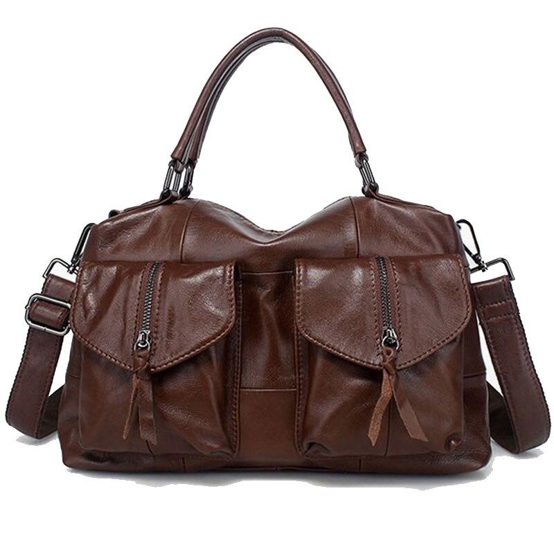 Genuine Leather Bag Large Women Leather Handbags Famous Brand Women Messenger Bags Big Ladies Shoulder Bag Bolsos Mujer LY147