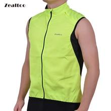 Zealtoo Green Cycling Vest Pánské ultra lehké bez rukávů Coat Jacket Běžecké vesty Outdoor Outdoor Sportswear Windproof