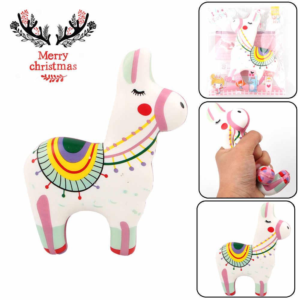 Милая Пижама с рождественским принтом, пижама Цветной пони антистресс игрушки для снятия стресса рельефный декор с ароматом супер медленно распрямляющийся мягкий антистрессовые игрушки для детей
