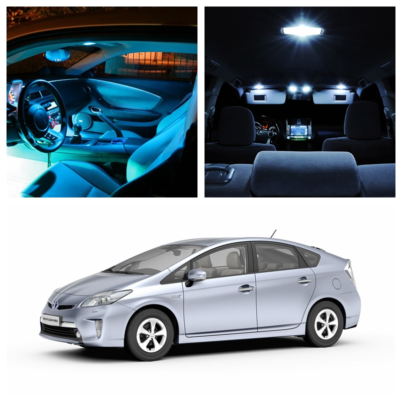 11Pcs Ice Blue Bulbs White LED Lights Interior Package Kit For 2004-2015 Toyota Prius Map Dome License Plate Light Toyota-EF-08 shanghai chun shu chunz chun leveled kp1000a 1600v convex plate scr thyristors package mail