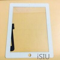 החלפת iSIU Tab מסך מגע עבור iPad 3 מגע פנל קדמי שחור לבן זכוכית Digitizer חיישן לא תצוגת LCD החדשה iPAD3