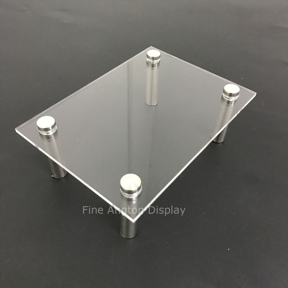 Clear Acrylic Rectangle Pedestal Riser