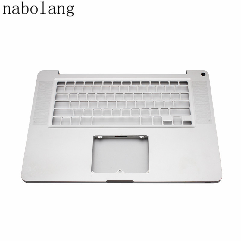 Nabolang 97% New Sliver Top upper Case laptop keyboard cover without key-board For Macbook Pro 15 A1286 2010 laptop original a1706 a1708 lcd back cover for macbook pro13 2016 a1706 a1708 laptop replacement