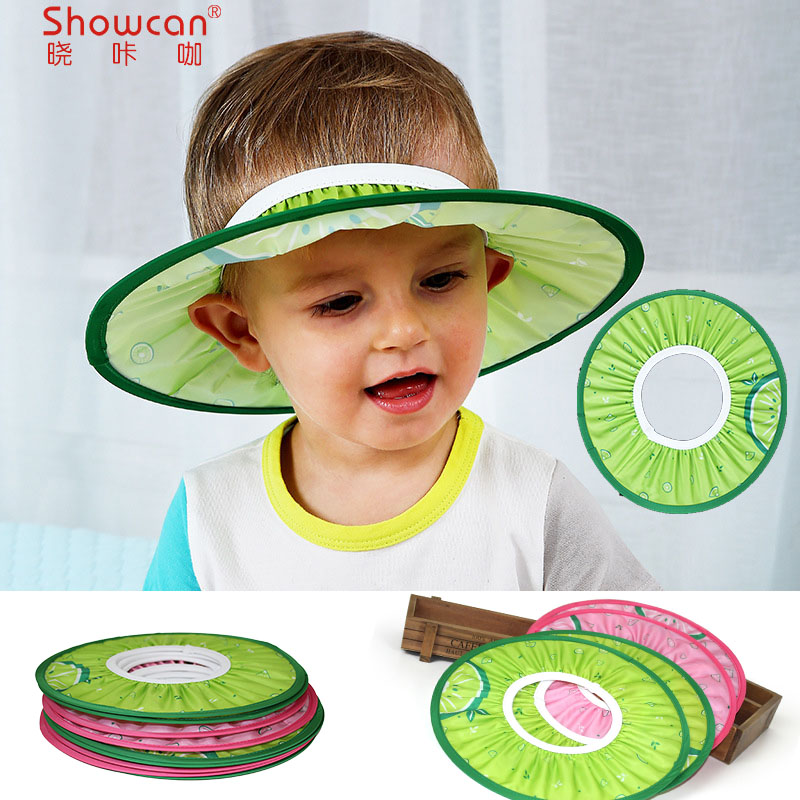 new arrival Baby Kids Shampoo Cap Adjustable Bath Shower Cap Hat water Wash Hair Shield protect ear eyes lion monkey cow cartoon