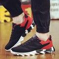 2016 de Corea Del nuevo Verano Fashoion malla Transpirable Lace Up Plana zapatos corrientes Ligeros Ocasionales Gym Sport Caminar Formadores zapatillas de deporte